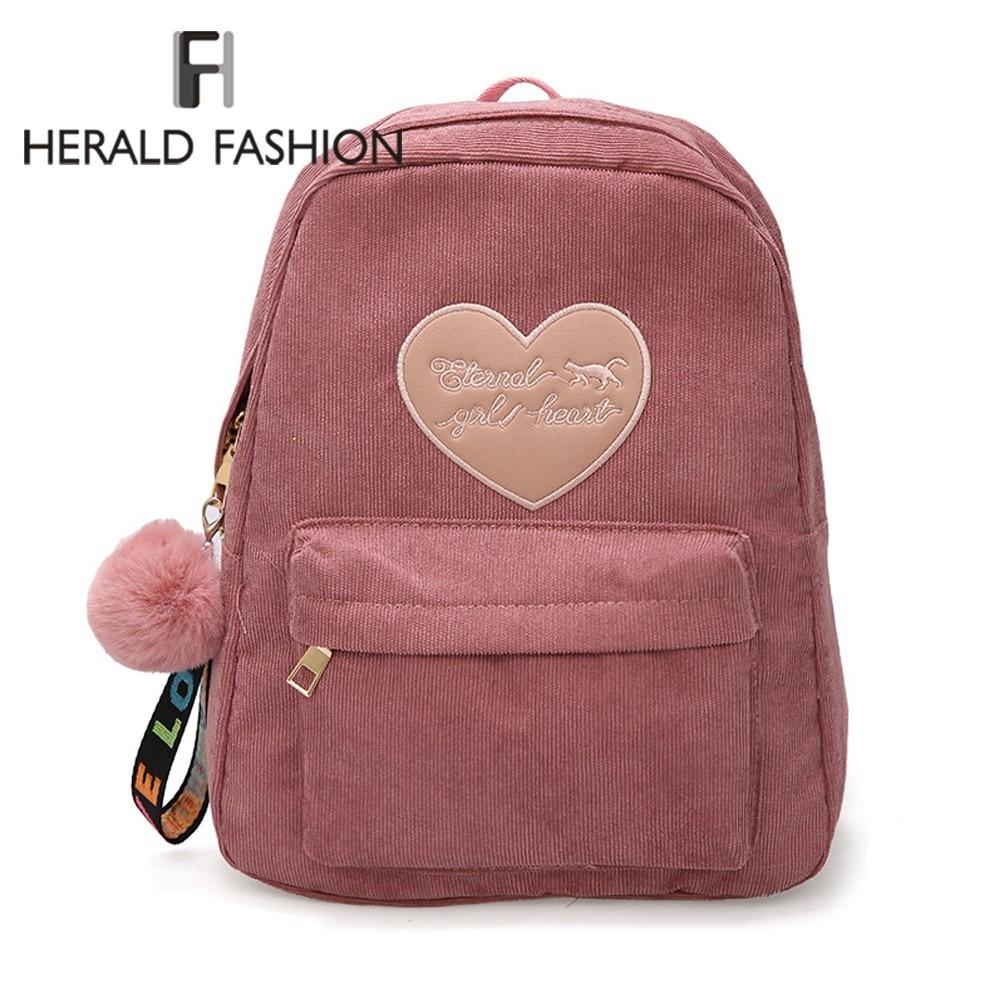 Herald Fashion Women Cute Backpack For Teenagers Children Quality Back Pack Kawaii Girls Kids Small Backpacks Feminine Packbag