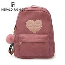 0f824b9be7 Herald Fashion Women Cute Backpack For Teenagers Children Quality Back Pack  Kawaii Girls Kids Small Backpacks