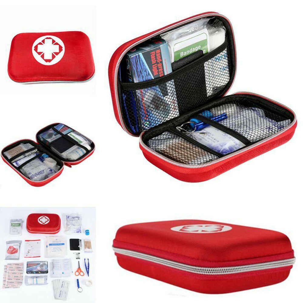 Hot 2019 First Aid Kit Bag Emergency Medical Survival Treatment Rescue Empty Box Eyeful