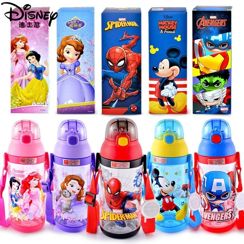 e8b4249b4c Detail Feedback Questions about Disney Baby Bottle Outdoor Children Cup  Kindergarten For Boys Girls Baby Plastic Portable Kettle Straps on  Aliexpress.com ...