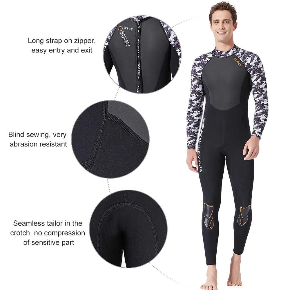 1.5 MM/3 MM UV koruyucu kısa/uzun kollu Wetsuit erkekler dalgıç kıyafeti termal neopren dalış sörf yüzme tüplü dalgıç kıyafeti