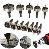 12pcs Hole Saw Tooth Kit HSS Steel Core Drill Bit Set Cutter Tool For Metal Wood Alloy