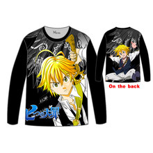 Hot Anime  The Seven Deadly Sins MelioT-shirt Men Tops Unisex Cosplay dress Long sleeve T shirt Tees