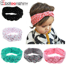 Wecute Fashion Baby Headband Dot Cross Children Weave Twist Girl Hair Accessories Infant Toddler Photography tool