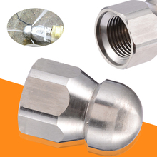 Mayitr Stainless Steel 1/2''F Pressure Nozzle Sewer Pipe Cleaning Drain Washing Rotary Nozzle 5 Jet Spray Nozzles hot 2 5 ss304 stainless steel rotary spray cleaning ball female thread tank cleaning ball