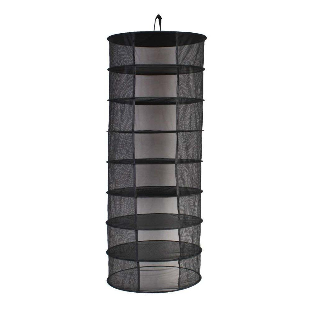 Hot Sale 8 Layers Dry Net Herb Herbal Rack For Buds Compartments Foldable Hanging Flowers Hydroponic Plant 8