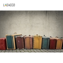 Laeacco Wooden Board Ball Baby Colorful Suitcase Portrait Photography Background Custom Photographic Backdrops For Photo Studio