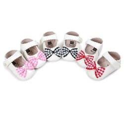 Лидер продаж принцесса Мэри Джейн мягкая подошва детская обувь новый стиль детские мокасины обувь плед из искусственной кожи лук детские