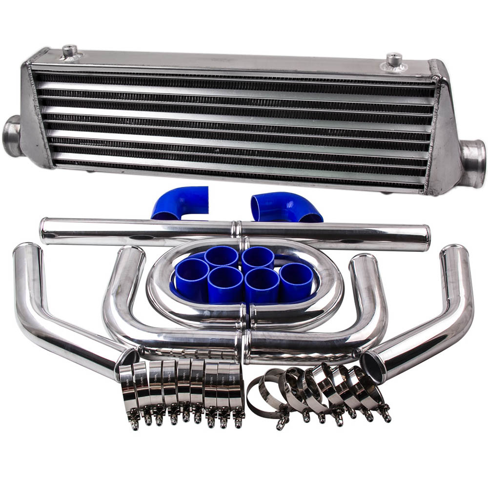 2.5 64mm Universal Turbo Piping Pipe Kit 27x7x2.5 Intercooler For Audi Jetta 2.5 inch In/outlet Pipe Thickness: 1.8mm