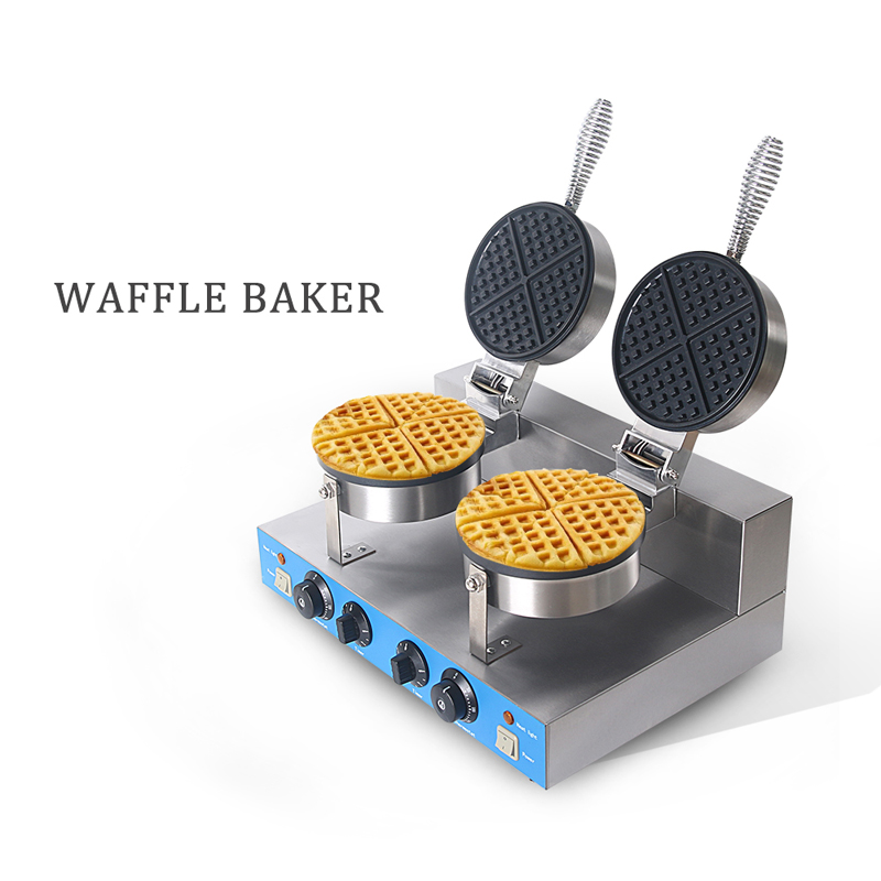 Commercial Waffle Maker Machine Electric 2000W HongKong Eggettes Puff Cake Bubble Egg Cake Non stick Waffle Iron Oven Machine