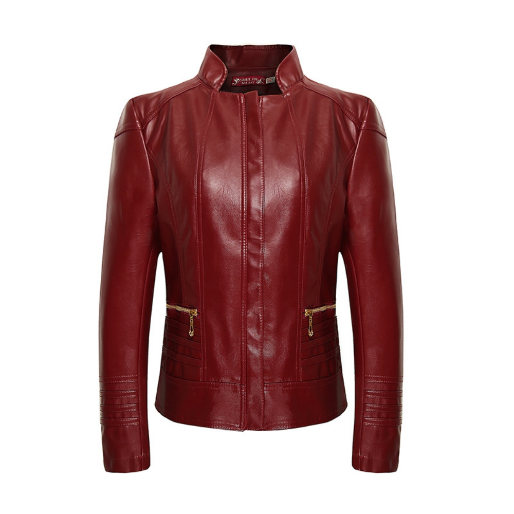 High Quality Women   Leather   Jacket Female Casual Basic Coat Clothing Women Wind Zipper Plus Size XL-6XL