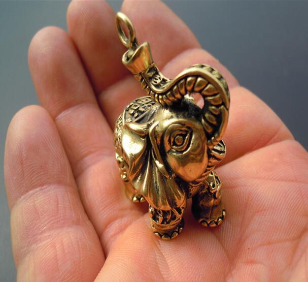 Petite statue déléphant en cuivre-archaize | collection de chine, petite statue déléphant en laiton et en cuivre