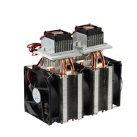 DIY Semiconductor Peltier dual core Cooler refrigerator DC12V Computer Case Micro Air Conditioning Space Cooling radiator Kit