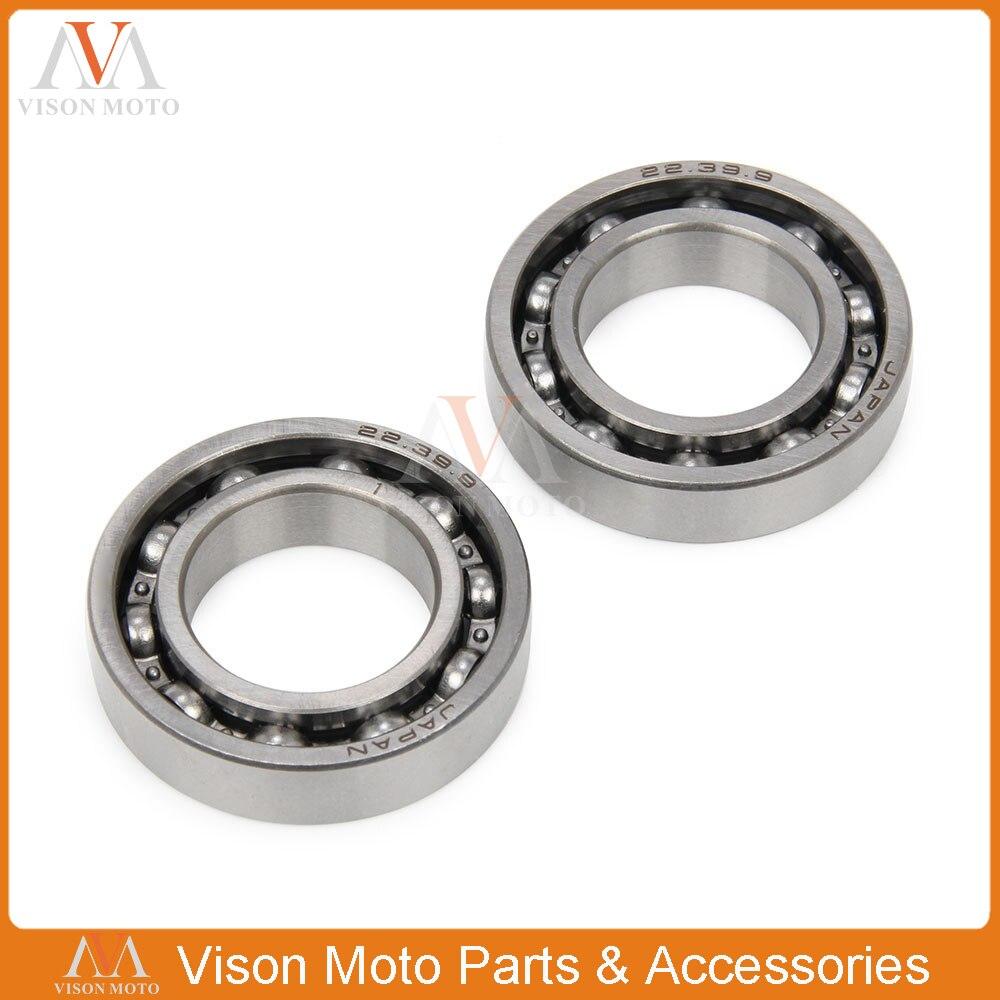 2PCS Front Wheel Hub Roller Bearing For Suzuki Yamaha RMX450Z 2010 RMZ250  2007-2014 RMZ450 2005-14