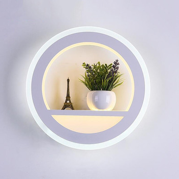 AC85-265V 30W LED Wall Lamp Dimmable Light with Flower Tower 3 color change Acrylic LED wall light for Bedroom Living Room