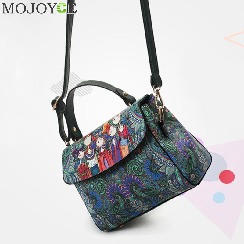 Ethnic Print Elegant Shoulder Handbags Women Leather Casual Messenger Bags 5