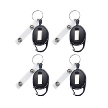 4pcs Badge Reel Key Chain Retractable Badge Recoil Carabiner For Climbing Outdoor Sports Use For Car Key Decor(China)