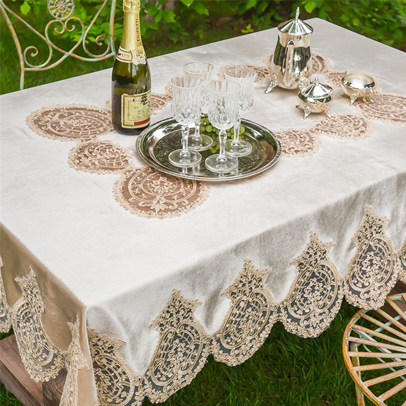 White Tablecloth Elegant Lace Table Runner Dining Room Restaurant Table  Setting Wedding Holiday Event Catering Tablescapes P33 In Tablecloths From  Home ...