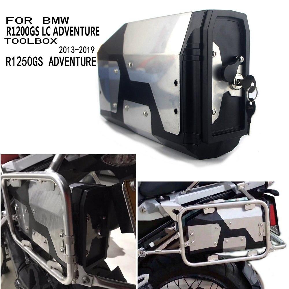 Boîte à outils en alliage d'aluminium ABS boîte à outils 4.2 litres support latéral gauche pour BMW R1250GS 2018 2019 R1200GS Adventure de R1200GS LC