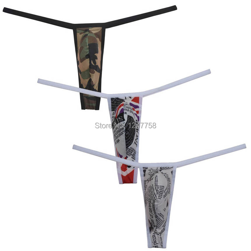 Sexy Thong Men's Micro G-String Spandex Underwear Less Extreme Coverage Shorts T-back Men String Tangas Panties