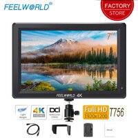 Feelworld T756 7 inch On Camera Field Monitor DSLR 4K HDMI Full HD 1920x1200 LCD IPS Screen Portable External Display for Nikon