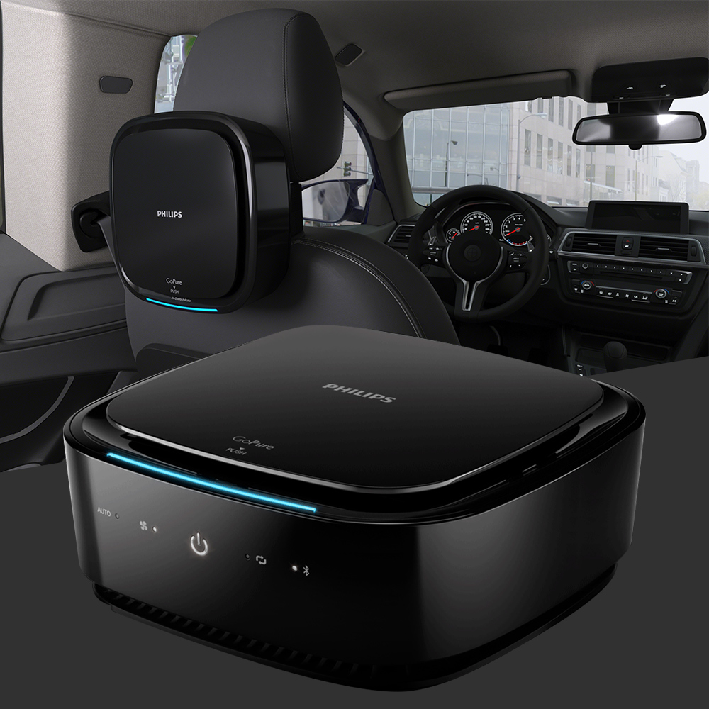 PHILIPS GoPure 7101 Go Pure Automotive Air Clean Purifier System App Controlled