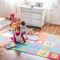 36pcs Assembled Indoor Bubble Puzzle Carpet with Various English Alphabet Portable Tool Kits for Home Use as Christmas Gift HWC