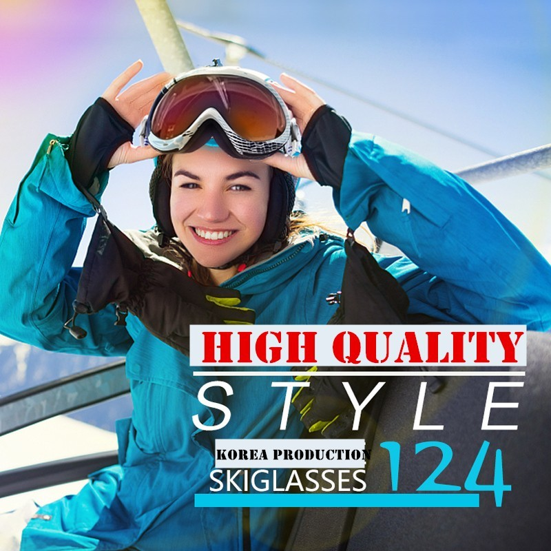 Skiing Eyewear Glasses Double-deck Defence Mirror Men Women Mountaineering Snow Moto Snowboard Ski Anti-fog Lens Winter Goggles