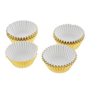 Image 5 - 100 pçs mini cupcake forros bolo de papel cozimento copo muffin casos natal wending ferramentas