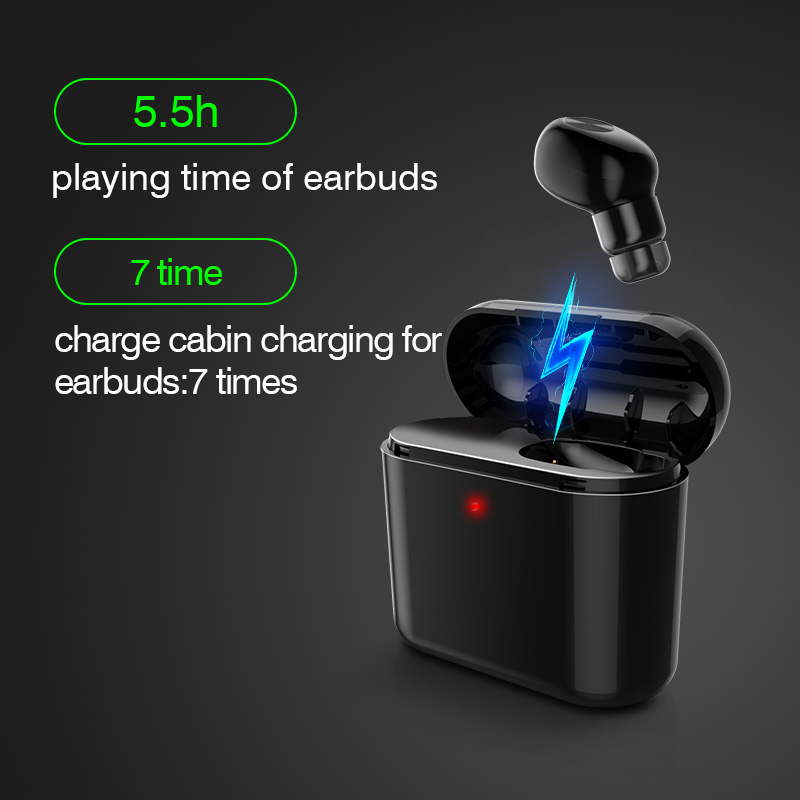 Invisible Wireless Bluetooth Earphone Mini Bluetooth Headset Wireless For Phone With 700 MAh Charging Box Portable in Bluetooth Earphones Headphones from Consumer Electronics