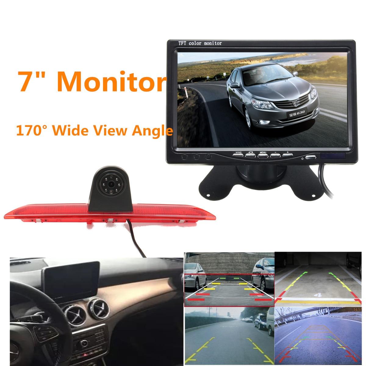 Автомобиль стоп-сигнал задний вид камера с 1/3 для CCD ИК светодиодный свет ночное видение водостойкий 7 мониторы Ford Transit