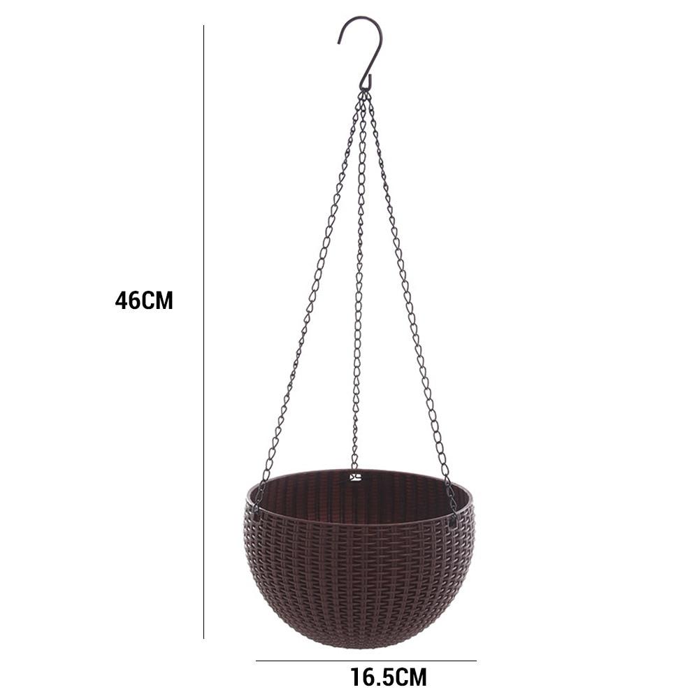 Экономичная имитация ротанг Плетение цепи Висячие клумбы для сада детская пластиковая ваза для корзин садовый горшок домашний декор