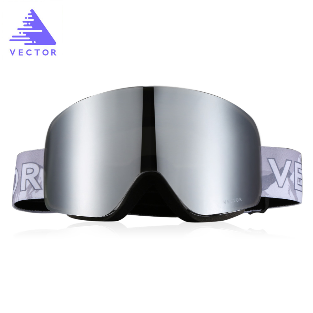Vector Ski Goggles Glasses Skiing-Eyewear Uv400-Protection Double-Layer-Lens Frame Anti-Fog