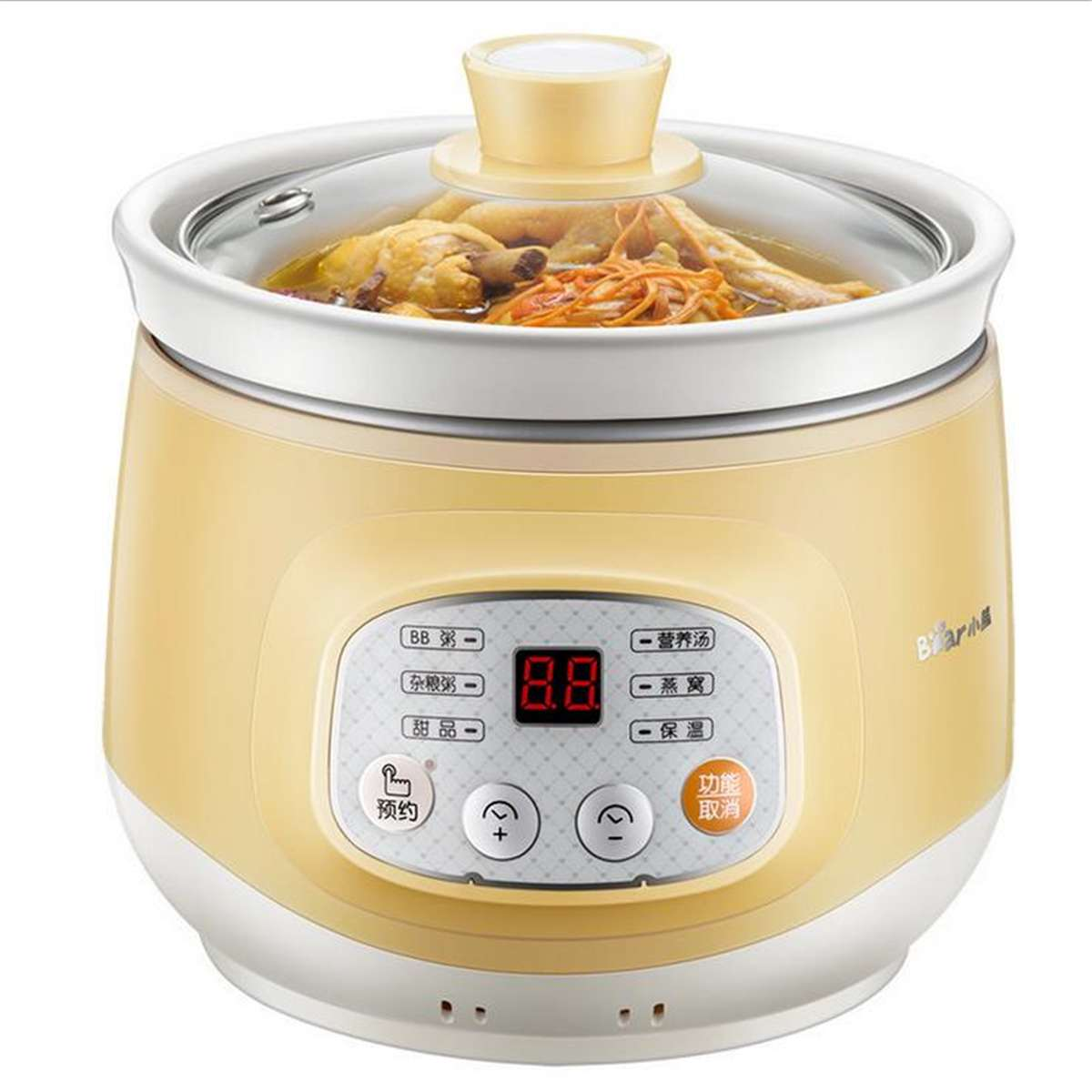 Electric Slow Cooker Ceramic Mini Fully Automatic Baby Soup Pot Congee Bird's Nest Stew Pot Multi function Safe Slow Cooker 1L