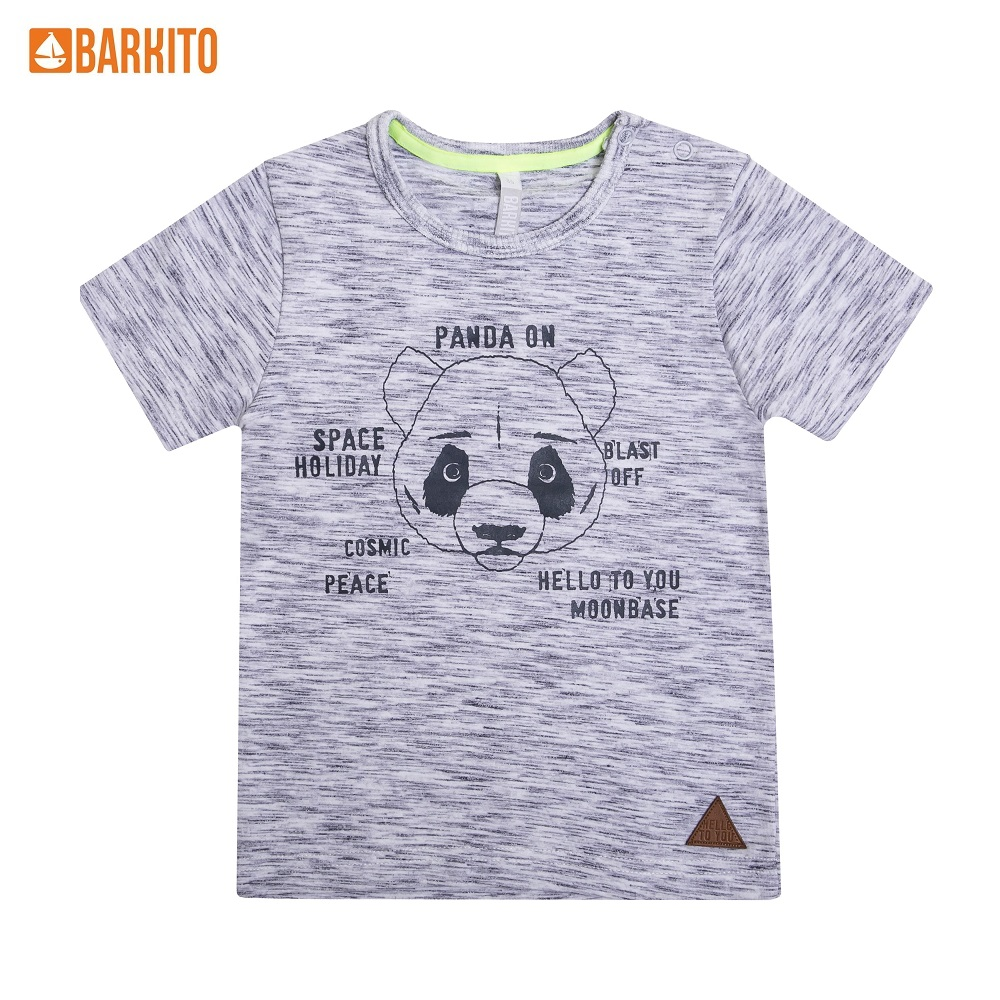 T-Shirts Barkito 339004 children clothing Cotton 32A-30470KOR Gray Boys Casual t shirts barkito 339006 children clothing cotton 32a 30475kor yellow boys casual