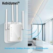 Беспроводной Wi-Fi ретранслятор/маршрутизатор 1200 Мбит/с 2,4 г 5 г двухдиапазонный Wifi усилитель сигнала AP усилитель сигнала сетевой расширитель диапазона