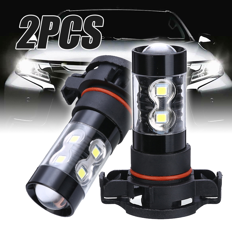 Universal 2pcs PSX24W 2504 50W Car LED Fog Light Day time Running Bulb High Power 6000K White For Car Light Source in Car Headlight Bulbs LED from Automobiles Motorcycles