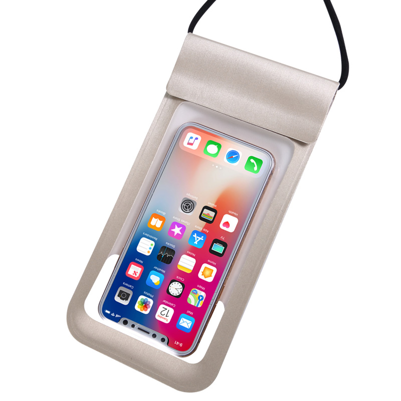 Mobile Phone Waterproof Bag For Iphone 6plus 7 8 Huawei All Models 6 Inch Dustproof Bag PU Mobile Phone Case With Lanyard