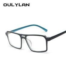 dee5caedc6cb9 Oulylan mulheres óculos quadro projeto do vintage duplo feixe de óculos  falsos homens lente clara retro óculos armações óculos ó.