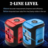 120 Degree Laser Level Self Leveling Horizontal And Vertical Cross Line Red/Blue/Green Beam Portable Mini Level Meter