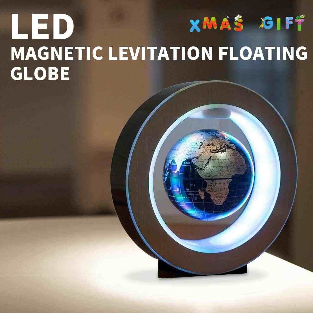 Eu Gold Levitation Anti Gravity Globe Magnetic Floating Globe World Map Led Light For Children Gift Home Office Desk Decoration In Short Supply Home