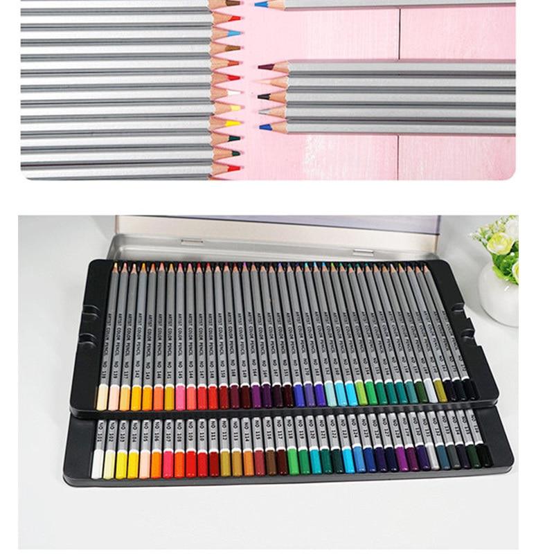 72 Color Pencil Colors Oil Colored Pencils Lapis De Cor Artist Painting Set High quality Student Children Sketch Drawing Pencils