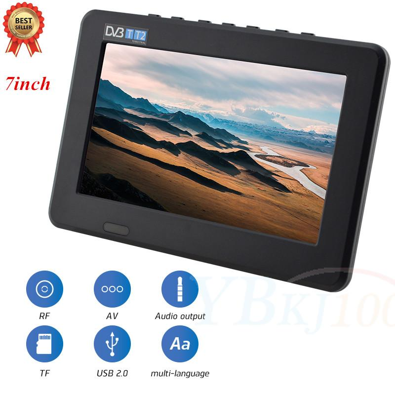 2018 LEADSTAR 7 Inch High Resolution TV Color TFT LED Digital Analog Television 800x480 Portable TV good quanlity new fashion