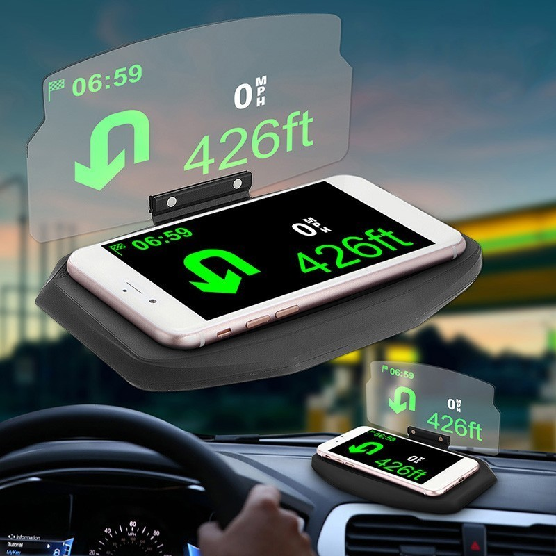 SPEEDWOW Car Windscreen Projector HUD Head Up Display Universal Multifunction Mobile Phone Holder For iPhone Samsung GPS in Head up Display from Automobiles Motorcycles