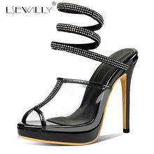 Lsewilly Clear PVC Transparent Pumps Sandals Perspex Heel Stilettos High Heels Pointed Toes Womens Party Shoes Nightclub E676