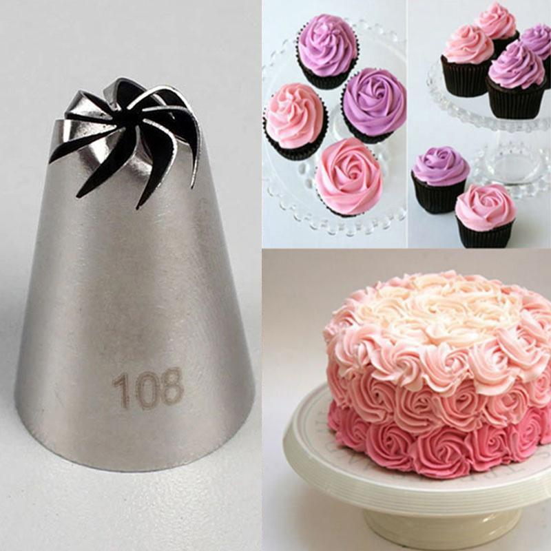 1pc Russian Tulip Icing Piping Nozzles Stainless Steel Flower Mouth Cream Pastry Tips Nozzles Bag Cupcake Cake Decorating Tools