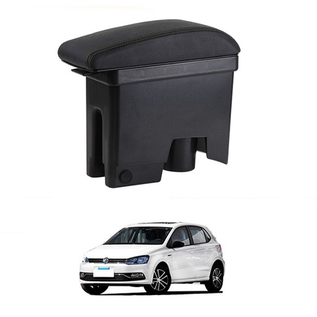Car-styling Arm Rest Car Decorative Upgraded Interior Mouldings protector Armrest Box 11 12 13 14 15 16 FOR Volkswagen Polo