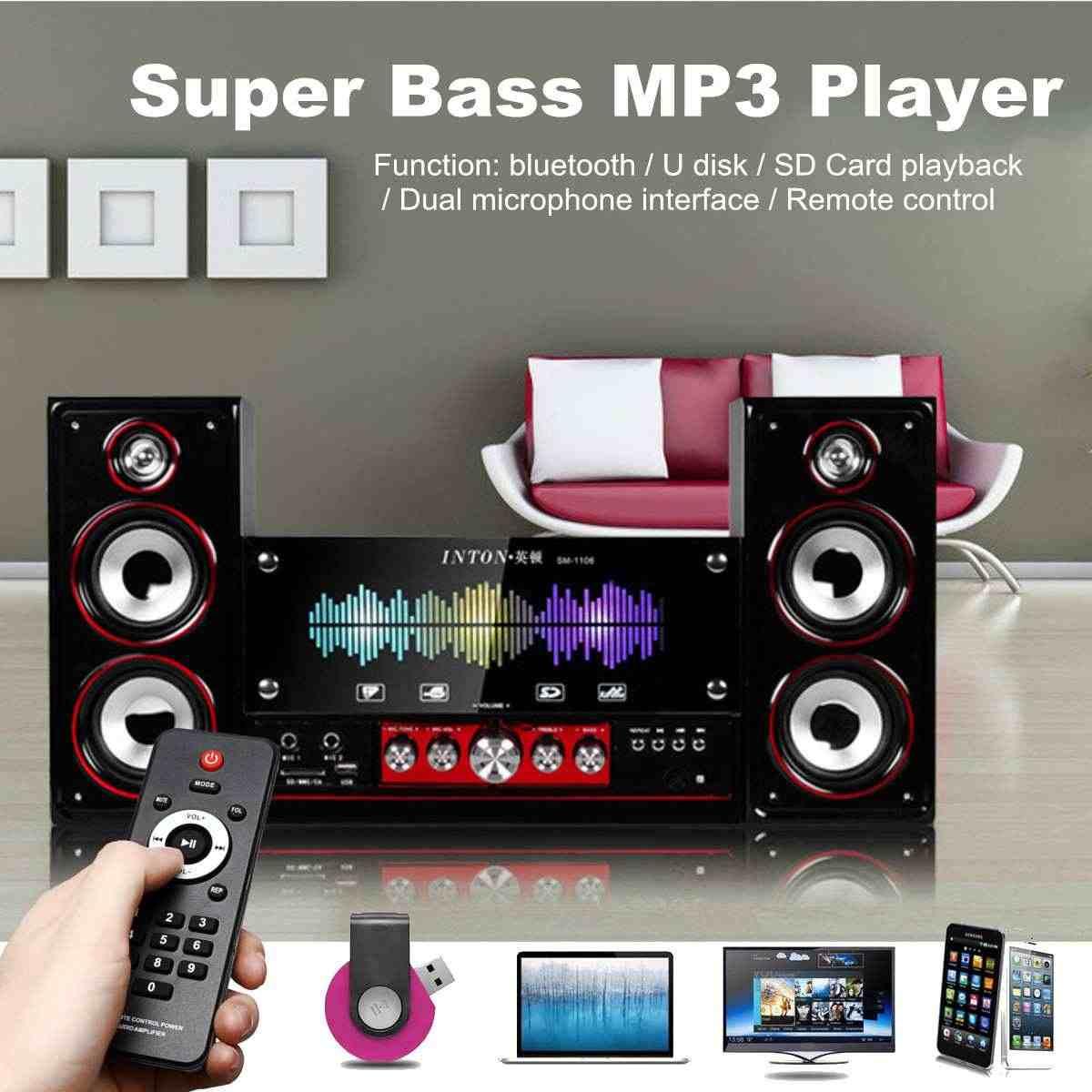 HIFI Player Bluetooth Nirkabel Komputer PC Desktop Speaker Stereo Soundbar Karaoke Komputer TV Speaker Subwoofer Rumah Bar