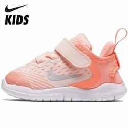 NIKE GRATIS Originele Nieuwe Collectie Kids Ademend Mesh Loopschoenen Comfortabele Kinderen Sport Sneakers # AH3456-800