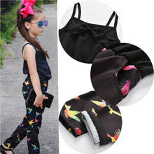2019 Toddler Kids Baby Girls Romper Summer Bird Strap Jumpsuit Black Loose Pants Kids Beach Casual Trousers Costume Clothing(China)